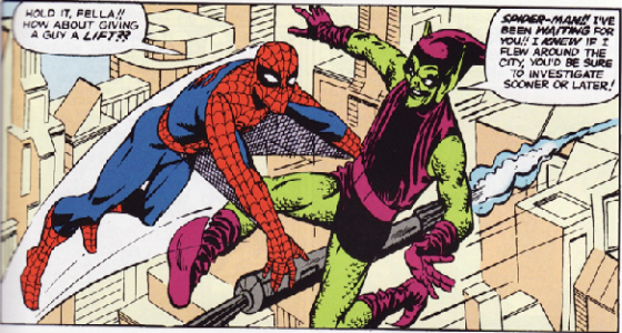 Original Spiderman and Green Goblin 1